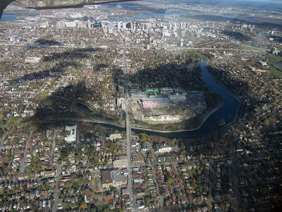 Aerial photo of Landsdowne